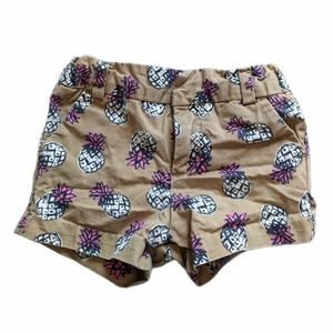 Pineapple print tan pineapple shorts